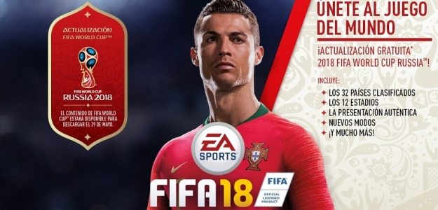 FIFA 18 ofrecerá el juego del Mundial de Fútbol 2018 gratis
